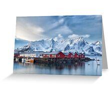 Hamnoy, Norway Greeting Card