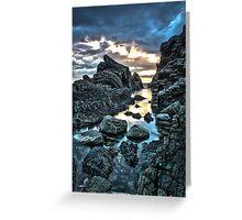 Hartland Slabs #1, Devon, England Greeting Card