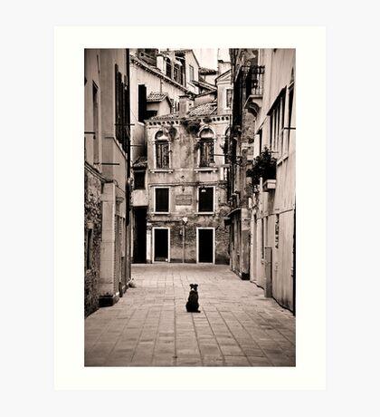 Dog meets Alley Art Print