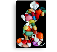 Mouse on Drugs Canvas Print