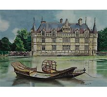 French castle - watercolour Photographic Print