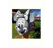 Minnie's Mail Art Print