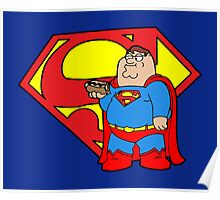 Peter Griffin as Superman Poster