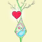 Happy Neuron Loves You  by Immy Smith