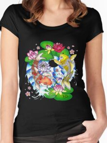 The Tao of Koi Women's Fitted Scoop T-Shirt