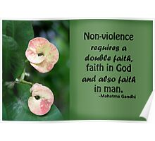 Faith and Non-violence Poster