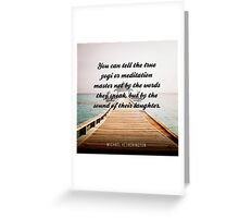 The Sound of Laughter Greeting Card
