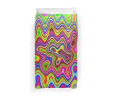 Psychedelic Glowing Colors Pattern Duvet Cover