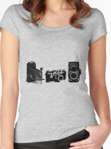 3 cameras Women's Fitted Scoop T-Shirt