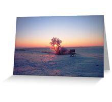 Breathtaking Winter Sunrise Greeting Card