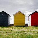 Beach Hut Series 8 by Amanda White