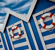 Beach Hut Series 13 by Amanda White