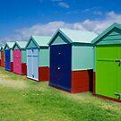 Beach Hut Series 16 by Amanda White