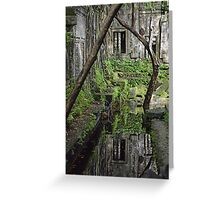 Cambodian Reflection - Beng Melea Temple Greeting Card