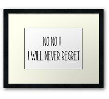 Regret Framed Print