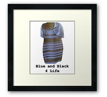Blue and Black 4 Life Framed Print