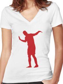 Sturridge Dance  Women's Fitted V-Neck T-Shirt