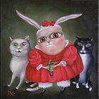 Family Portrait  12&quot; x 12&quot; x 1&quot;  Original Painting - Sold by Irena Aizen