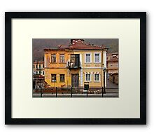 House with split personality Framed Print