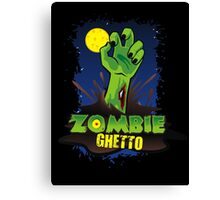 ZOMBIE GHETTO OFFICIAL LOGO DESIGN T-SHIRT Canvas Print