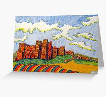 238 - BAMBURGH CASTLE - DAVE EDWARDS - COLOURED PENCILS - 2008 Greeting Card