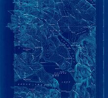 Maine USGS Historical Map Square Lake 807687 1927 48000 Inversion by wetdryvac