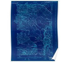 Maine USGS Historical Map Square Lake 807687 1927 48000 Inversion Poster