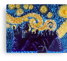 Hogwarts Starry Night Canvas Print
