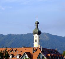 Above the roofs of Bad Toelz by Klaus Offermann
