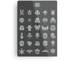 Mask Collection Metal Print