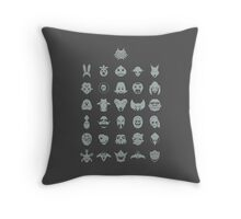 Mask Collection Throw Pillow