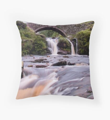 Three Shire Heads - The Peak District Throw Pillow