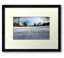 Up the Street Framed Print