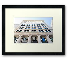 Old Boston Bank Building Framed Print