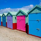Beach Huts Series 18 by Amanda White