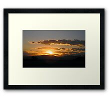 Another Virginia Sunset Framed Print