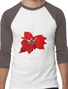 Poinsettia Men's Baseball ¾ T-Shirt