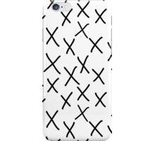 X - cross, plus, black and white, hand-drawn, graphic, bold, modern monochrome minimal design iPhone Case/Skin