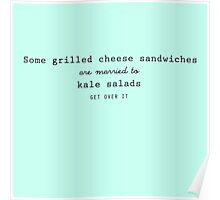 Grilled Cheese and Kale - Swan Queen (Black) Poster
