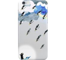 Clouds, Rain, Penguin and Rainbow iPhone Case/Skin