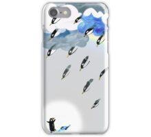 Clouds, Rain, Penguin and Rainbow iPhone Case/Skin