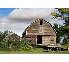 Livery Barn Rowely, Alberta Photographic Print