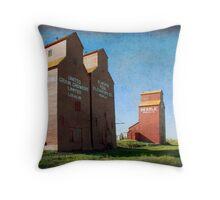 Grain Elevators, Rowley Alberta Throw Pillow