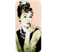 Audrey Hepburn aka Holly Golightly - quote iPhone Case/Skin