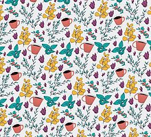 Floral pattern by Rin Rin