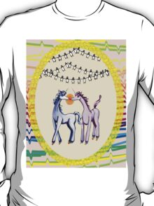 Feeling 13 again~ Unicorns in love with penguins T-Shirt