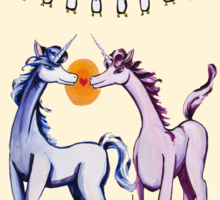 Feeling 13 again~ Unicorns in love with penguins Sticker