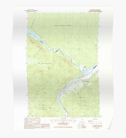 Maine USGS Historical Map St Francis 103002 1985 24000 Poster