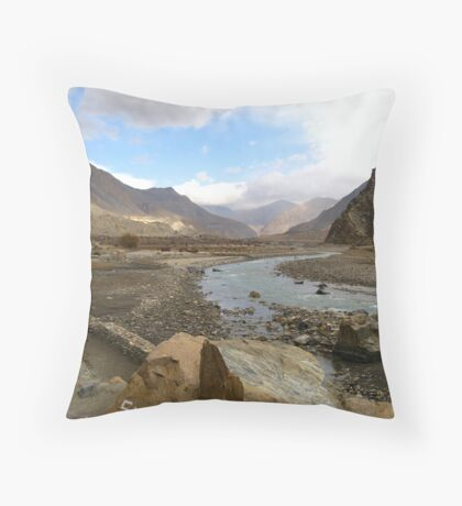 Trekking in Nepal Throw Pillow