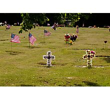 Memorial Flags 2 Photographic Print